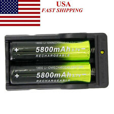2-RECHARGEABLE BATTERYS & 1-CHARGER- FOR USE WITH ATOMIC BEAM USA FLASHLIGHT
