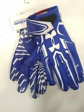 Under Armour F5 Football Glove, Adult Small (Blue, White)
