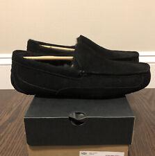 New UGG Men's Size 11 Ascot Moccasin Slipper BLK Black