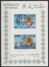 Omán 1981 mi.225/26 sg 255/56 Fine used presentation card Armed Forces [ga271]