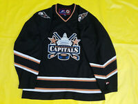 Rare all black Washington Capitals jersey ProPlayer  L mens large L Pro Player