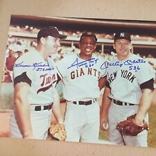 WILLIE MAYS, MICKEY MANTLE,  HARMON KILLEBREW AUTOGRAPHED / SIGNED 11x14 W/HRs