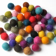 12 Handfelted Wool Felt Balls 2Cm Handbehg Felts Fiber Craft Choose Single Color