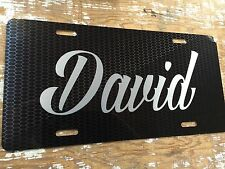 Personalized Carbon Pattern License Plate Car Tag Initials Custom Pick Colors