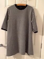LOVELY  LADIES  MONOCHROME  DOGTOOTH  CHECK  DRESS/TUNIC  TOP