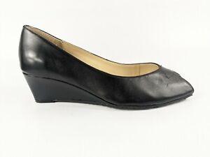 Van Dal Black Leather Wedge Slip On Shoes Uk 5 D Eu 38