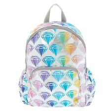 Claire's Ombre Rainbow Diamond Functional Backpack - New with Tags - RRP £35