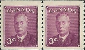 Canada   # 296  Pair   King George VI Omitted Postage   New 1949 Pristine Issue