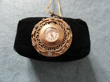 Wind Up Necklace Pendant Watch Vintage Swiss Made Coro Mechanical
