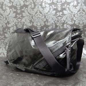 CHANEL Sports Line Black Coated Nylon Messenger Bag Shoulder Bag #2257 Rise-on