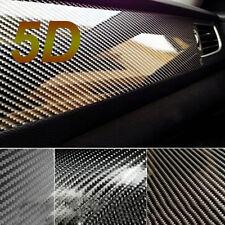Black 3D Carbon Fiber Vinyl Car Wrap Sheet Roll Film Sticker Decal 20x152cm