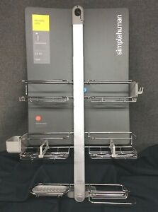 simplehuman XL Adjustable/Extendable Stainless Steel/Anodized Alum. Shower Caddy