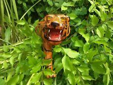 "Realistic Wild Tiger Leather Type Wrap Animal Statue Sculpture Figurine 19-1/2""L"