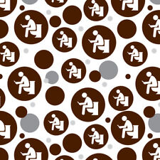 Man Pooping on Toilet Funny Premium Gift Wrap Wrapping Paper Roll