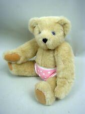 "15"" Tan Plush Classic Teddy Bear by The Vermont Teddy Bear Co. - All Original"