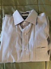Bloomingdales Joseph & Lyman Stripe French Cuffs Dress Shirt Men's Size 15.5 35