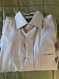 Bloomingdales Joseph & Lyman Stripe French Cuffs Dress Shirt Men's Size 15.5 35