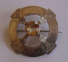 Vintage Écossais provincial silver Plaid style broche, Aberdeen c1950