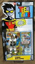 Teen Titans Cyborg with Armor 3.5 inch  Action Figure with Game Card - NEW