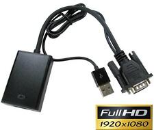 Newlink PC VGA to HDMI Converter 1920x1080P Power and Audio from USB Connector