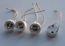 GU10 Fassung Socket für GU10 Leuchtmittel Lampensockel mit Kabel, Keramik 4 Stüc