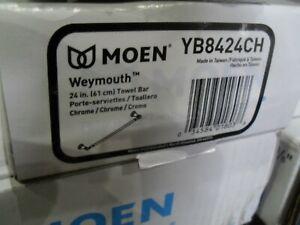 "Moen YB8424CH Weymouth 24"" Towel bar Chrome"