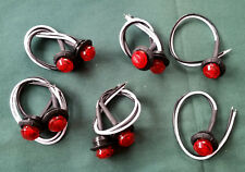 NIP 10 pc Lot of 3/4 inch RED 3 Diode LED Bullet / Penny Lights 12v