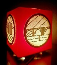 Vintage USSR BIG Space Age CUBE Propaganda Desk Lamp. Rare!!!