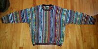 Vintage Coogi Australia Multi Color Mercerised Cotton Sweater Biggie Size Large