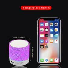 2 pcs Wireless Portable Bluetooth Speaker Mini LED Music Audio Stereo Sound