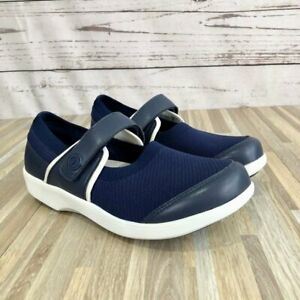 Allegria Traq Qutie Navy Mary Jane Slip On Comfortable Walking Shoes Size 39 NEW