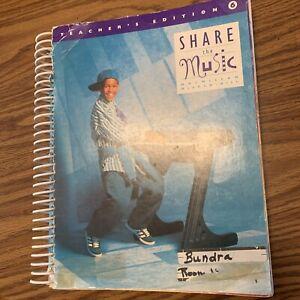 Share the Music Teachers edition 6 Macmillan/McGraw-Hill Lt Blue textbook