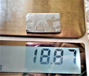 18.8 gram CANYON DIABLO IRON METEORITE ETCHED SLICE - from Meteor Crater Arizona
