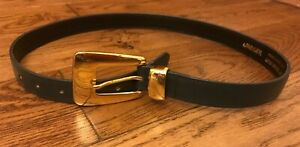 "Ladies JAEGER grey leather belt size 30"""