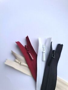 "YKK Concealed Invisible Zip 16"", 18"", 20"" + 4 Colours"