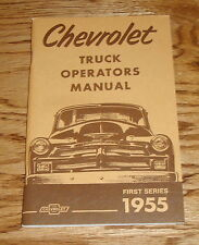 1955 Chevrolet Truck First Series Owners Operators Manual 55 Chevy