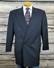 Canali Milano Mens British American House Double Breasted Blazer 42R Grey Wool