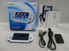 PS Vita -- PlayStation Vita Console PCH-1000 Crystal White -- JAPAN GAME. 59993