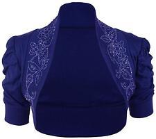 New Ladies Plus Size Short Sleeve Bolero Sequins Tops 16-26