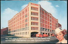 RICHMOND VA L&M Chesterfield Lark Cigarette Factory Vtg Postcard Old Virginia PC