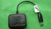 Wireless Wifi cordless Tour DRUM Receiver Dongle PS2/PS3 Guitar Hero World Tour