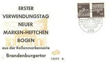 Germany 1967 FDC K7 Zusammendrucke