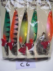 5x 28g Rolf Fishing LuresTrout Pike Perch Chubb Salmon Herring Bass Mepps