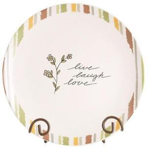 Decorative PLATE-Live, Laugh, Love by Carson Home Accents--7 1/2 Diameter