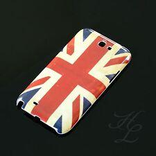 Samsung Note 2 II N7100 Hard Case Schutzhülle Retro Motiv Etui Flagge UK England