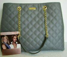 JOY /& IMAN Burgundy Quilted Leather RFID Crossbody Purse w//  2 Straps    R$99+