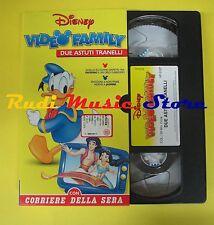 film VHS cartonata VIDEO FAMILY Due astuti tranelli 1997 CORRIERE (F37) no dvd