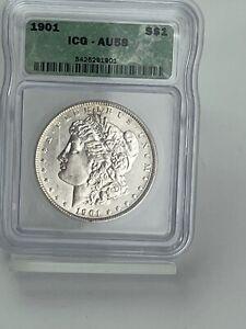 1901 ~ Morgan Silver Dollar ~ ICG   AU58  ~  KEY DATE  ~  RETAIL IS  $1310