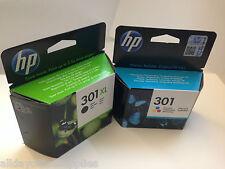 Genuine Original HP 301XL Black & 301 Colour Ink Cartridge For Deskjet 2540
