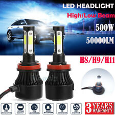 2x For Volvo S40 2004-2009 Front H8 H9 H11 Xenon 500W 50000LM LED Headlight Bulb